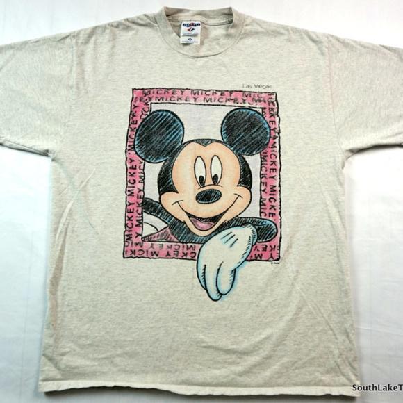 ae61c5d0 Jerzees Shirts | Vintage Mickey Mouse Las Vegas Tshirt Adult Xl ...